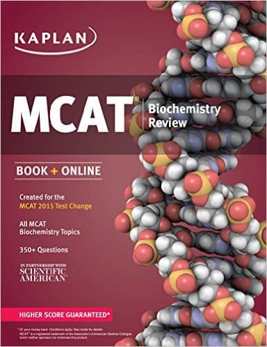Kaplan MCAT Biochemistry Review Created for MCAT 2015