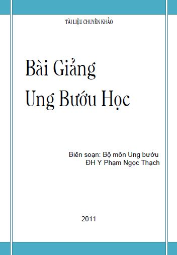 bai giang ung buou hoc dh y pham ngoc thach