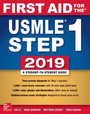 First Aid for the USMLE Step 1 2019, 29th Edition